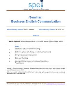 Poslovna komunikacija info